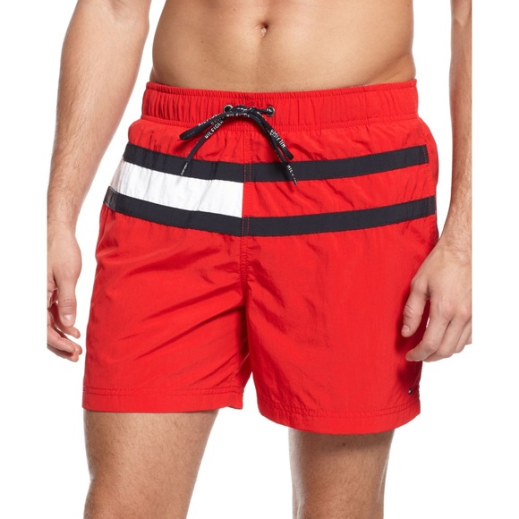 fb27dc60d138b Tommy Hilfiger Men's Red Swim Trunks Shorts XL. M_5ab878fc8290af04810f7498
